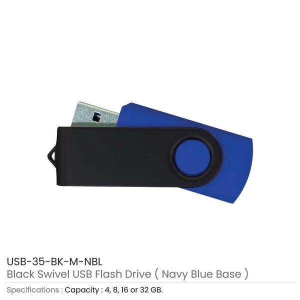 Black Swivel USB Navy Blue