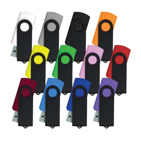 Promotional Black Swivel USB Flash Drives