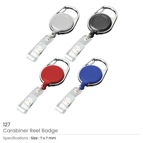 Carabiner Reel Badges