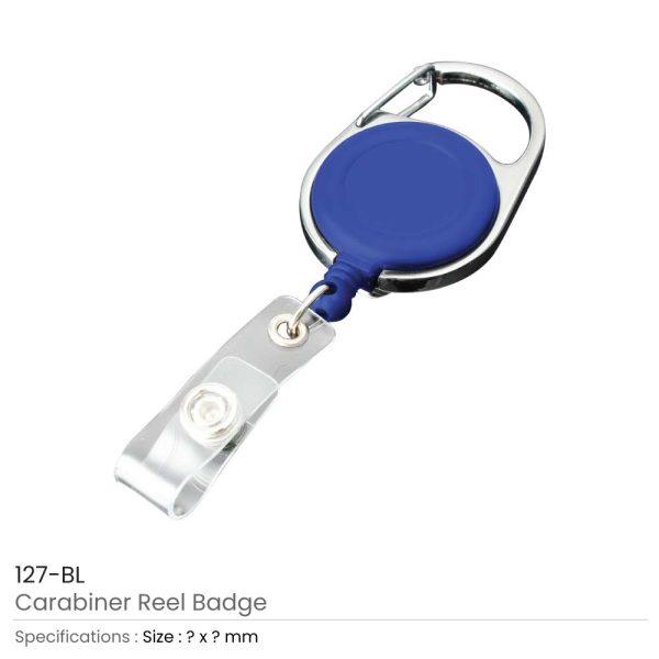 Carabiner Reel Badges Blue