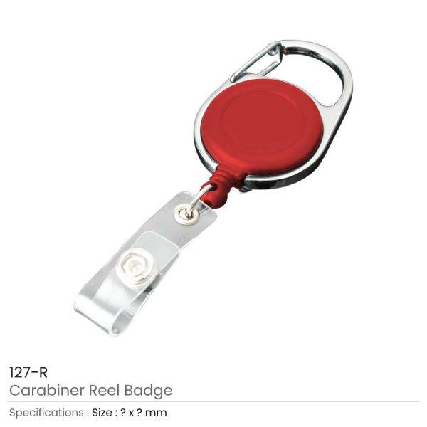 Carabiner Reel Badges Red