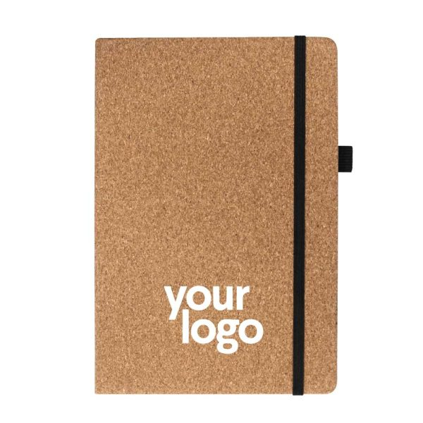 Branding A5 Size Cork Cover Notebooks