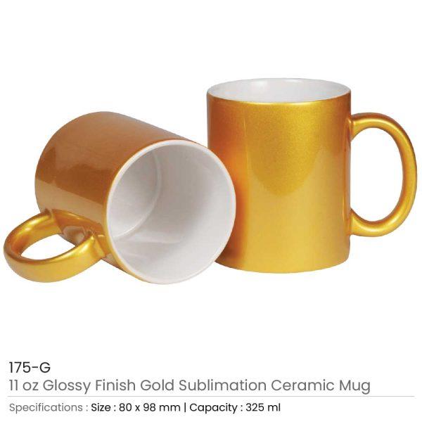 Gold Ceramic Mugs 175