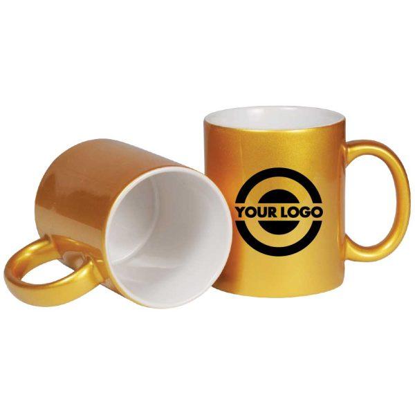Branding Gold Ceramic Mugs 175