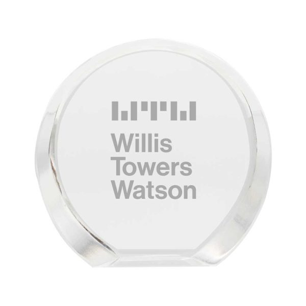 Branding Inclined Round Crystal