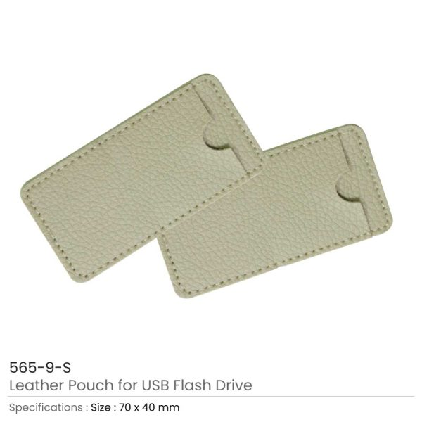Leather Cover for Card Shaped USB