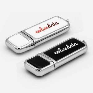 Branding Leather with Chrome Finish USB-18
