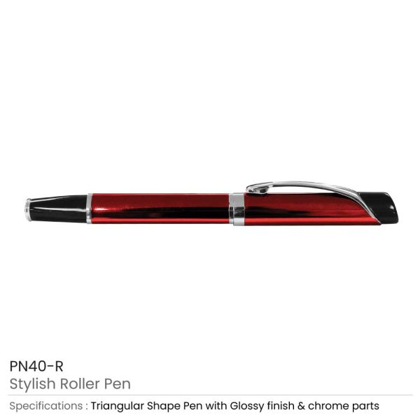 Red Metal Roller Pen