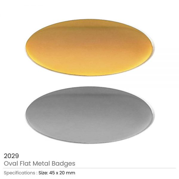 Oval Flat Metal Badges