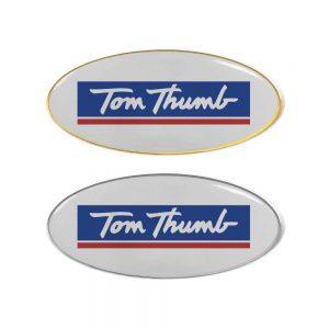 Printed Oval Flat Metal Badges