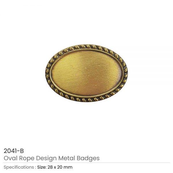 Oval Logo Badge Brown