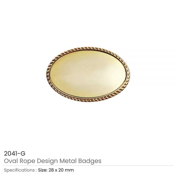 Oval Logo Badge Gold