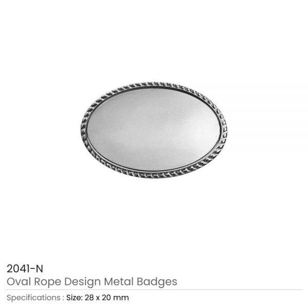 Oval Logo Badge Silver