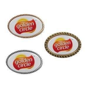 Oval Logo Badge Printing