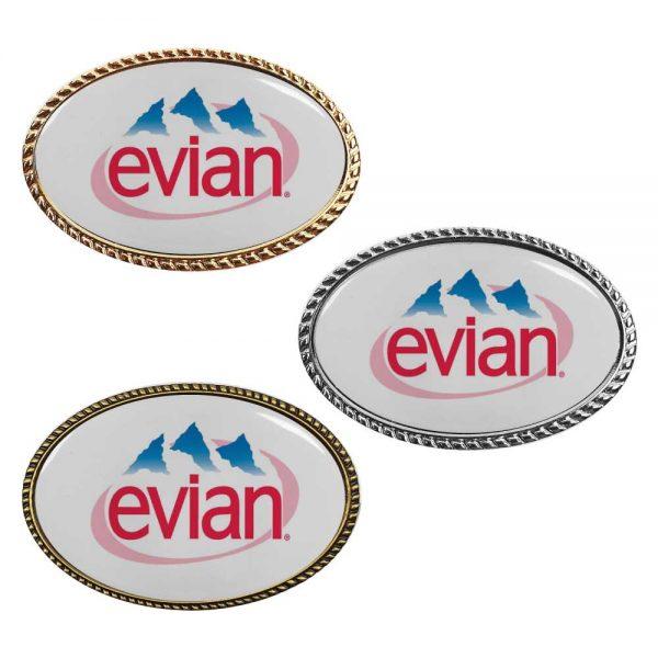 Oval Logo Badges Printing