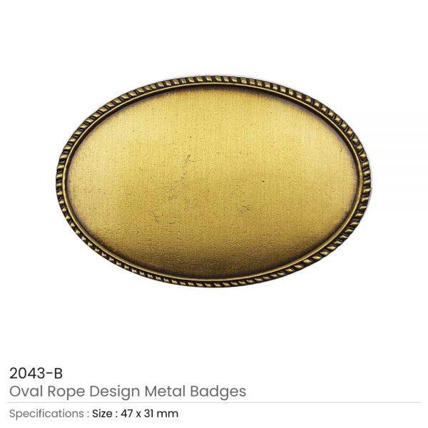 Oval Logo Badges Brown
