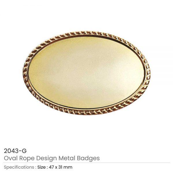 Oval Logo Badges Gold
