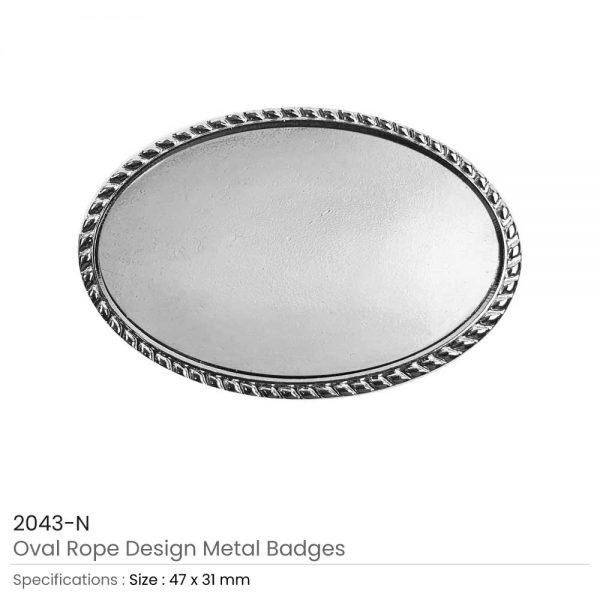 Oval Logo Badges Silver