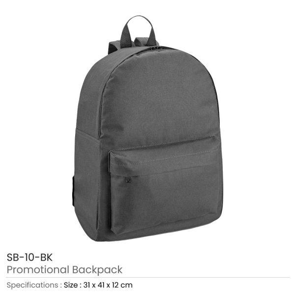 Promotional Backpack SB-10-BK
