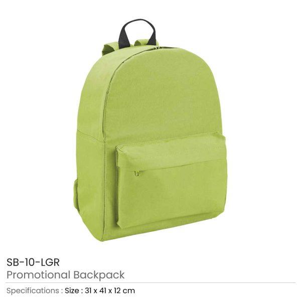Promotional Backpack SB-10-LGR