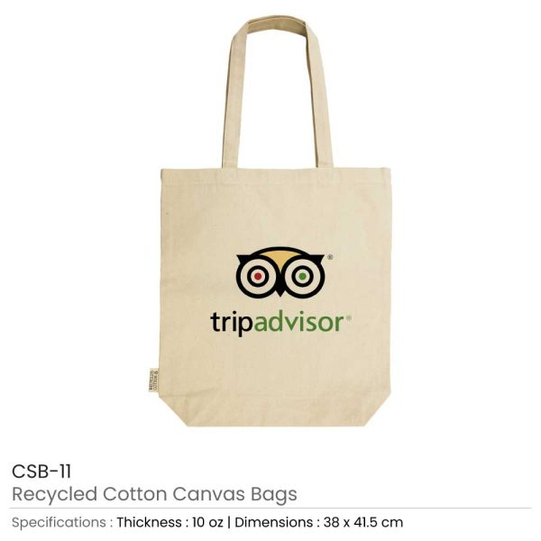 Promotional Recycled Cotton Canvas Bags