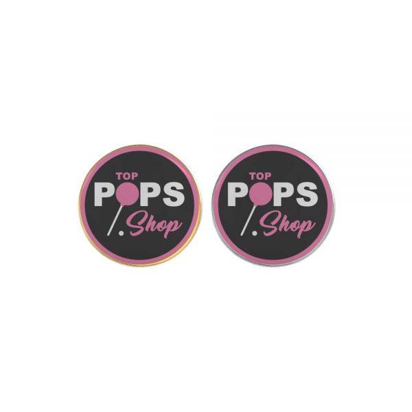 Printed Round Flat Metal Badges