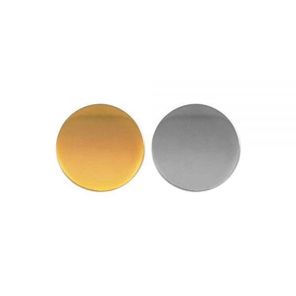 Round Flat Metal Badges