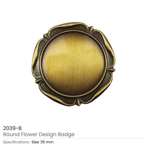 Round Logo Badges Brown