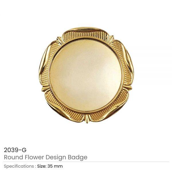 Round Logo Badges Gold