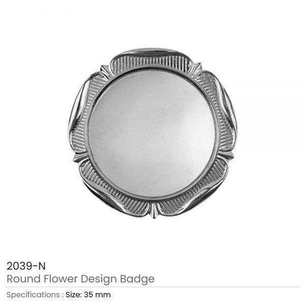 Round Logo Badges Silver
