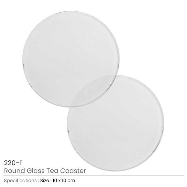 Glass Tea Coasters 10cm