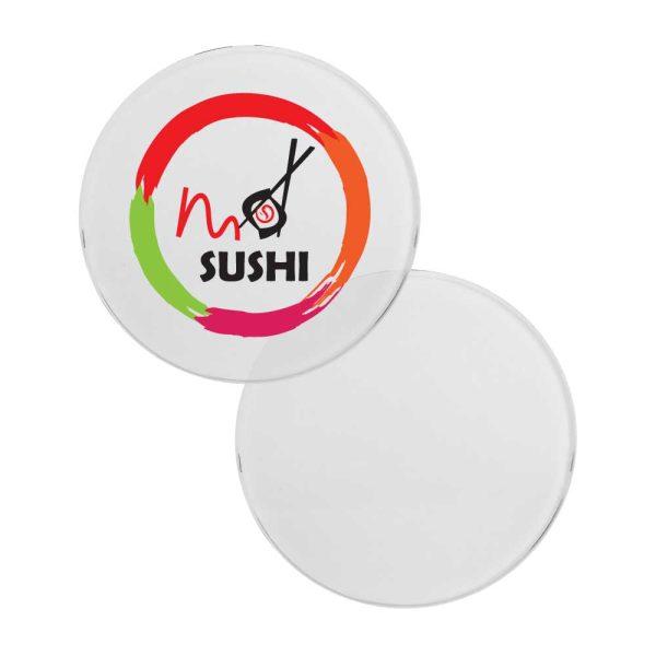 Branding Round Glass Tea Coasters