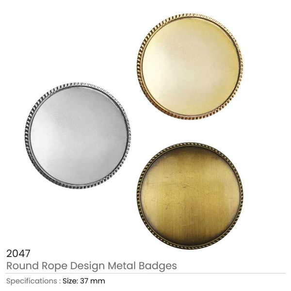 Round Rope Design Logo Badges