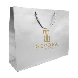 Branding Paper Shopping Bag Horizontal A4 Size - Silver