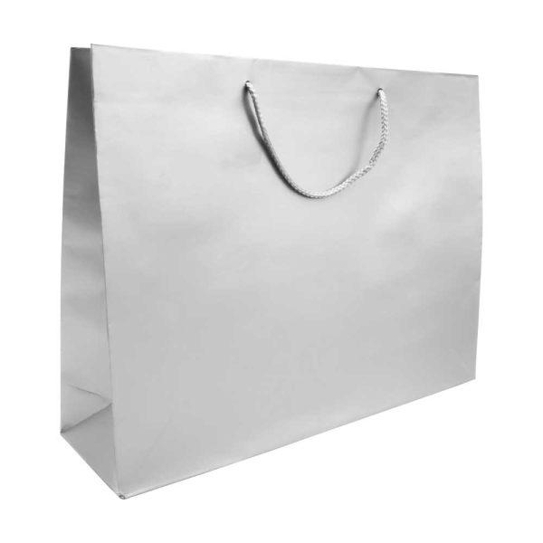 Paper Shopping Bag Horizontal A4 Size - Silver