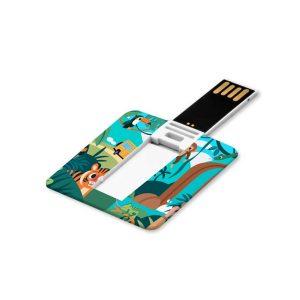 Branding Mini Cards Shaped USB Flash Drives - Square