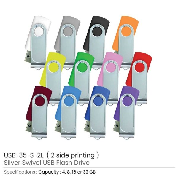 Promotional Swivel USB with 2 side Printing