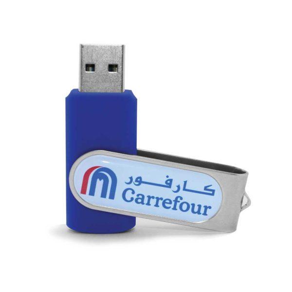 Swivel USB with 2 side Branding