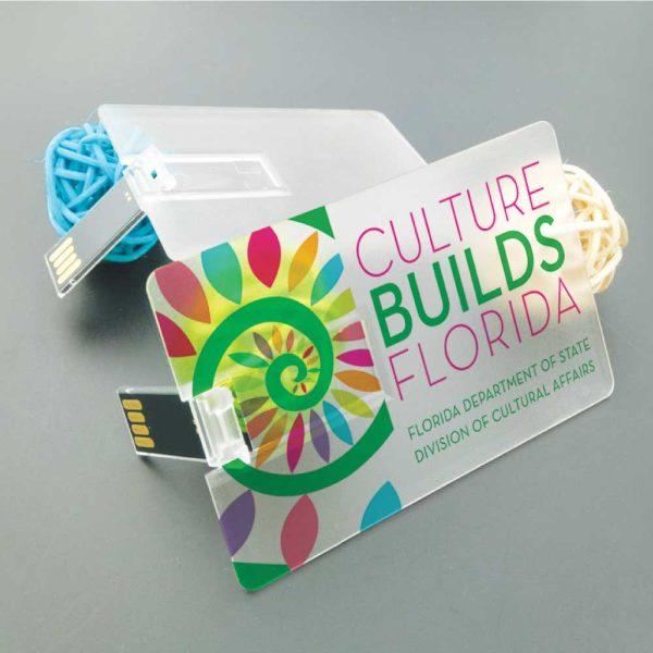 Branding Transparent Card Flash USB-11-TR