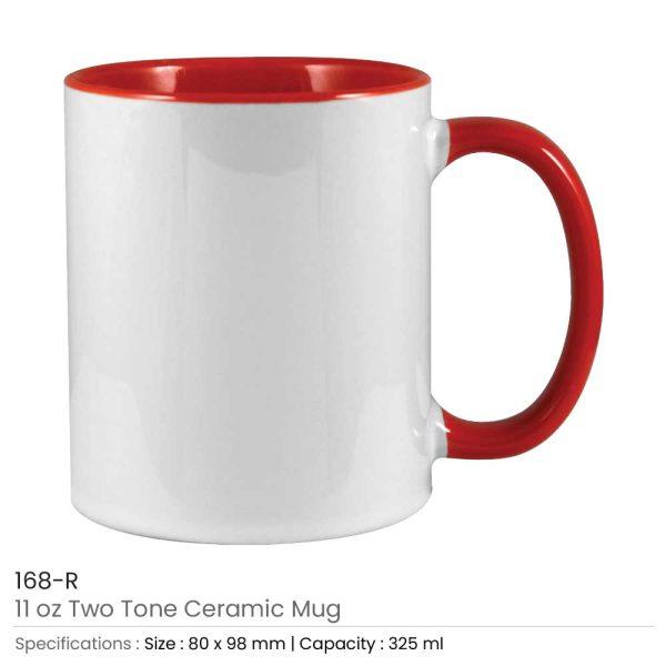Two Tone Ceramic Mugs 168-R