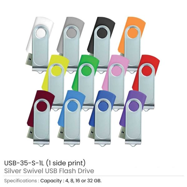Promotional Swivel USB with 1 side Printing