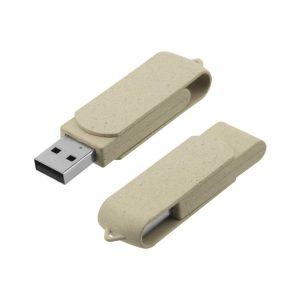 Wheat Straw Swivel USB-35-WS