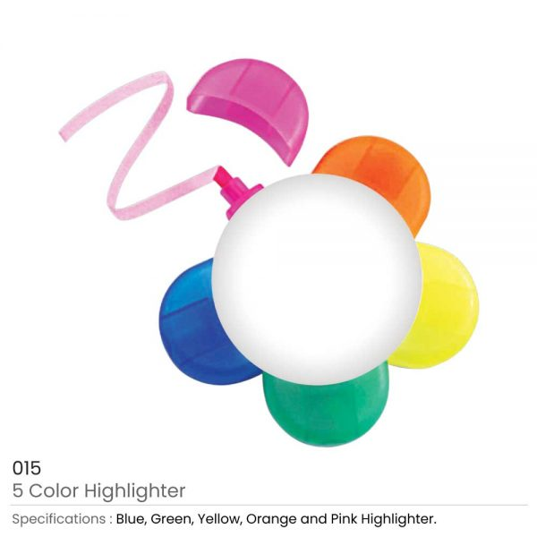 Highlighters in 5 Colors