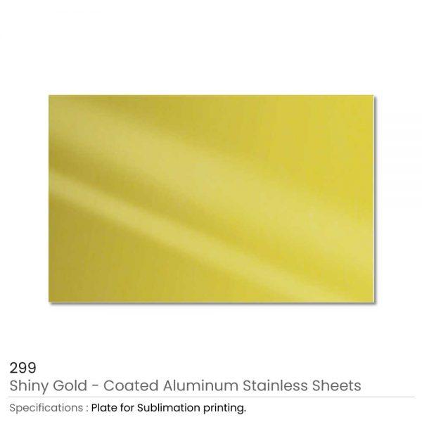 Shiny Gold Aluminum Sheets USA