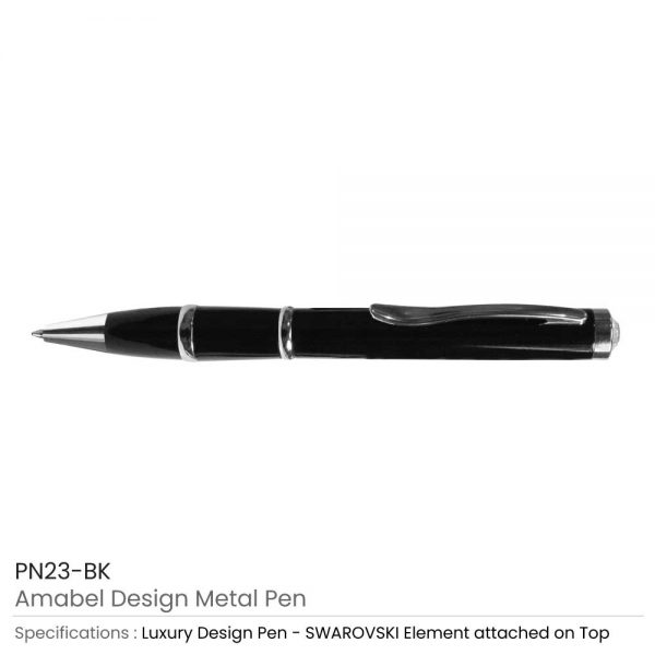Amabel Design Metal Pens Black