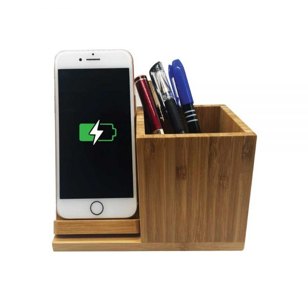 pen holder with wireless charger