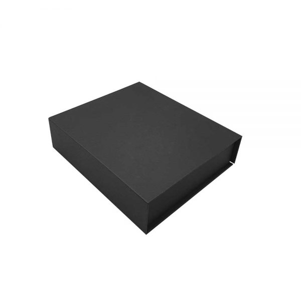 Black Packaging Box with Magnetic Flap