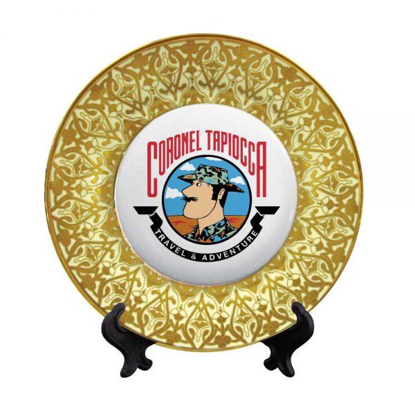 Personalize Ceramic Plate Button