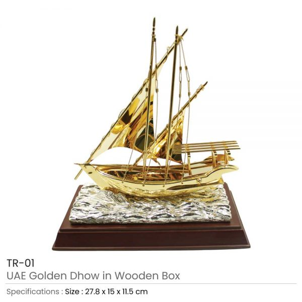 Dhow Trophy with Wooden Box