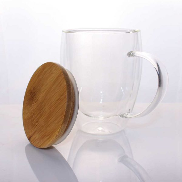 Double Wall Clear Glass Mugs